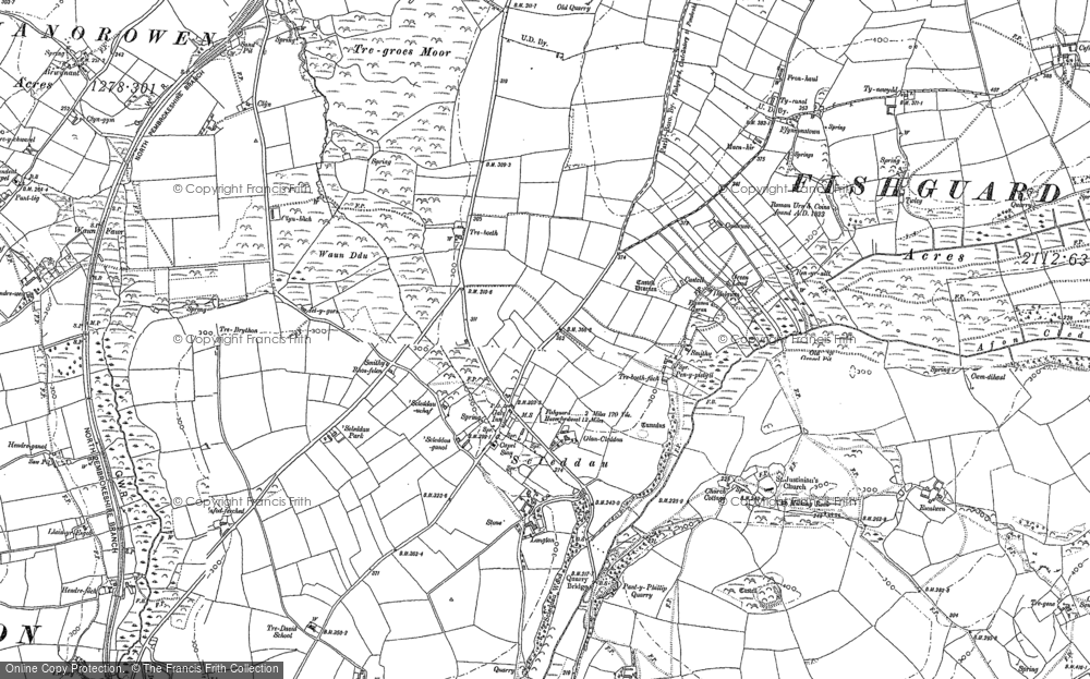 Old Map of Historic Map covering Langton in 1887