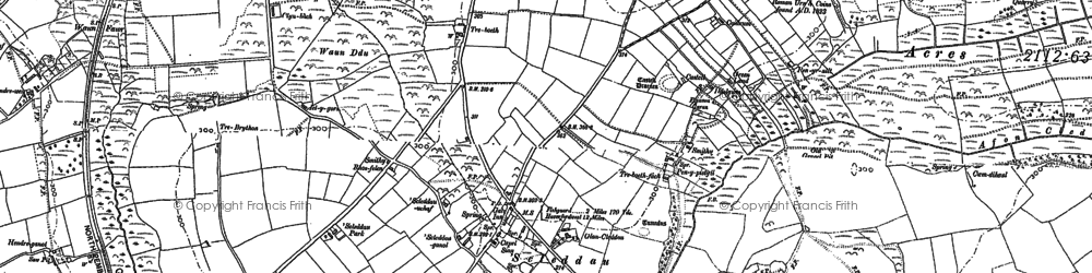 Old map of Afon Cleddau in 1887