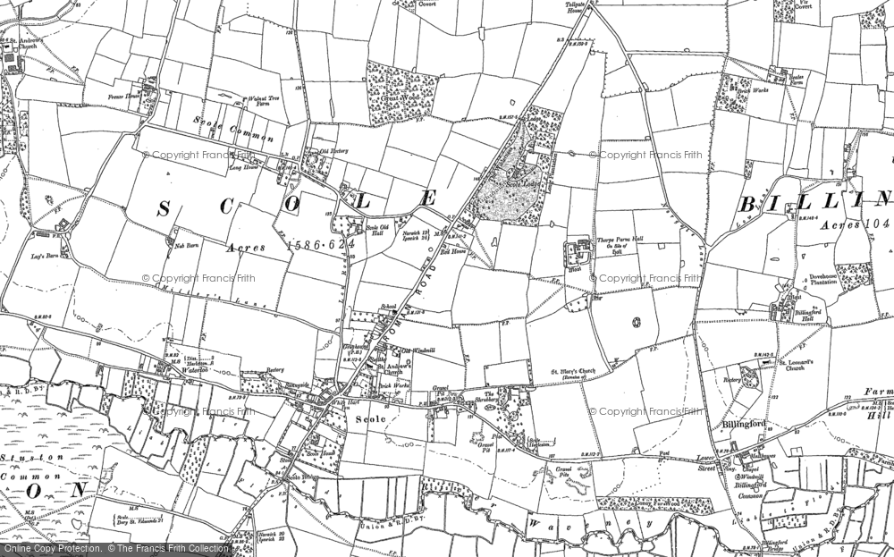 Map of Scole, 1903