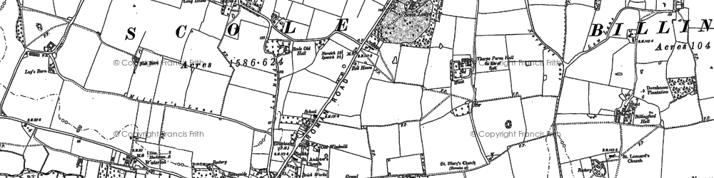Old map of Scole in 1903