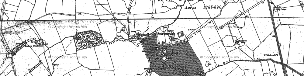 Old map of Lickham Hall in 1890