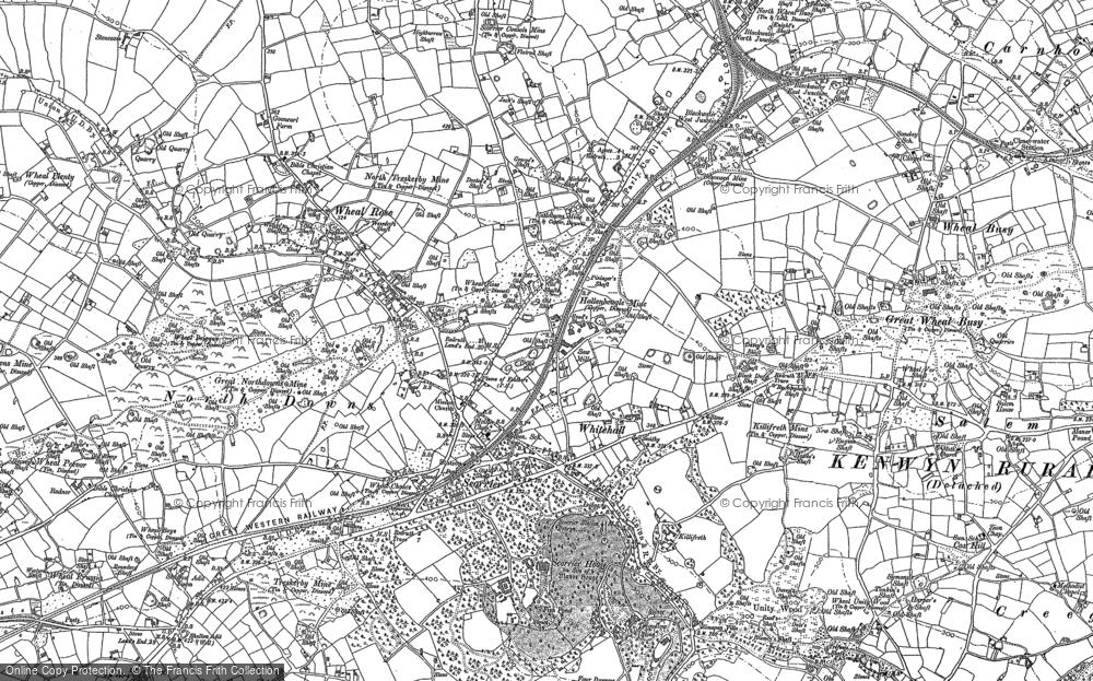 Old Map of Scorrier, 1879 - 1906 in 1879