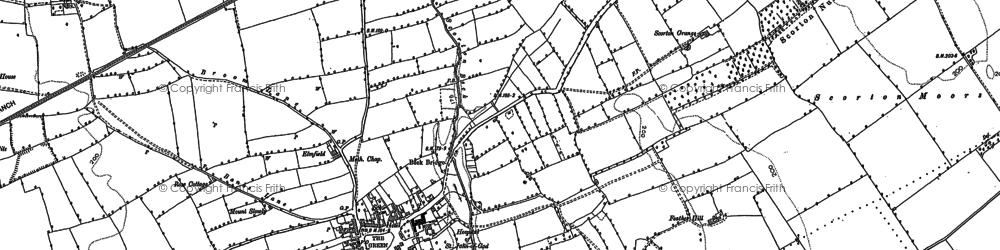 Old map of White Hills in 1891