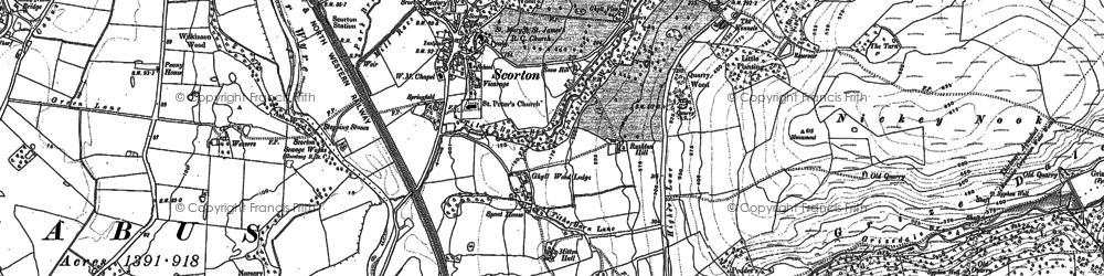 Old map of Wyresdale Park in 1910