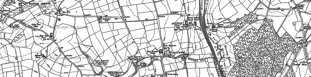 Old map of Yeadon Tarn in 1891