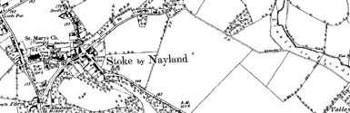 Old map of Bell's Corner centred on your home