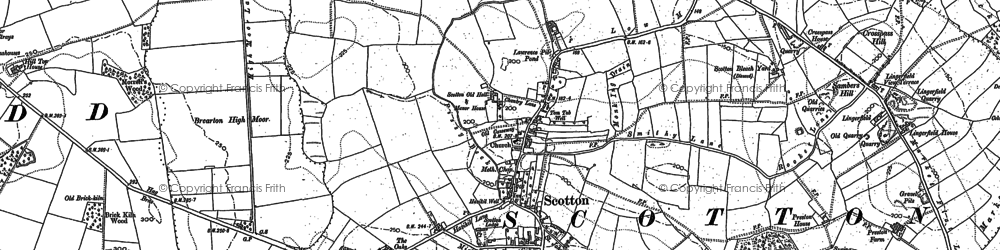 Old map of Lingerfield in 1849