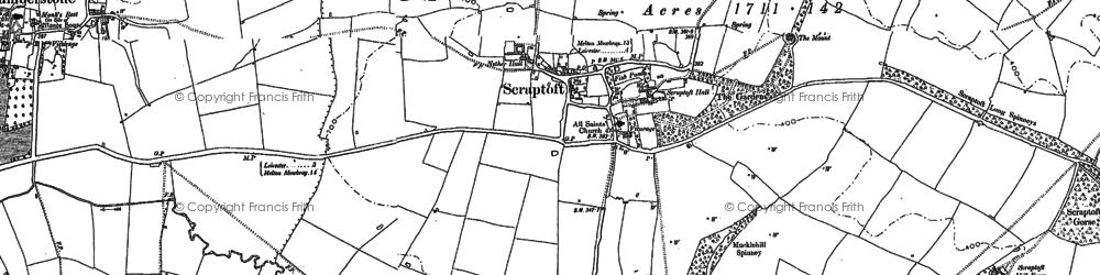 Old map of Scraptoft in 1884