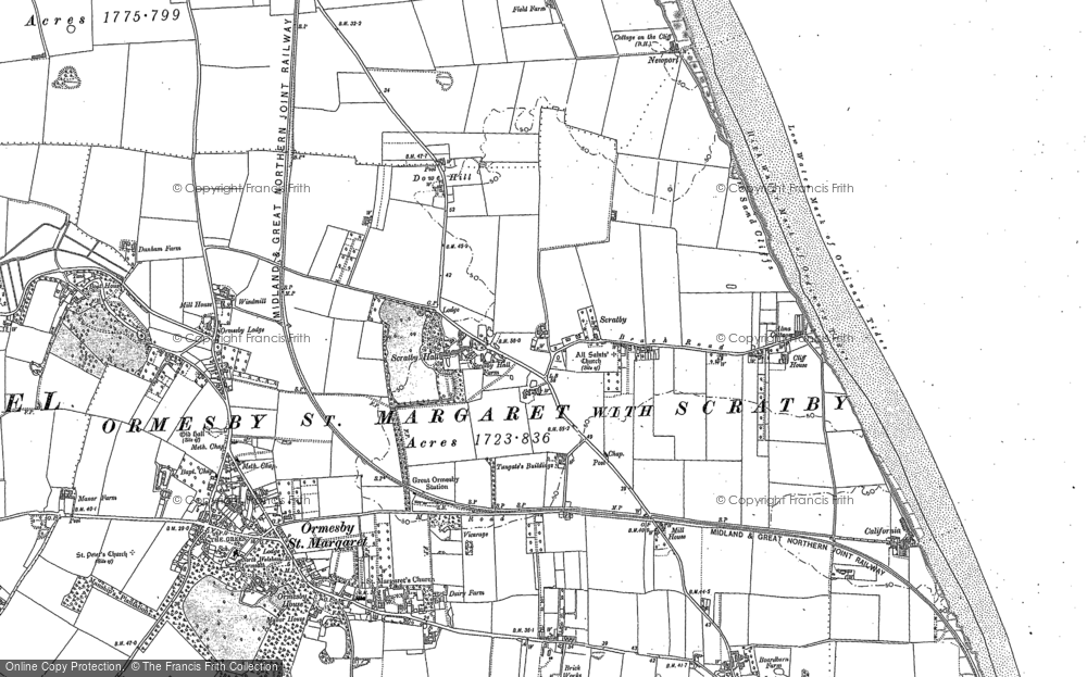 Map of Scratby, 1904 - 1905