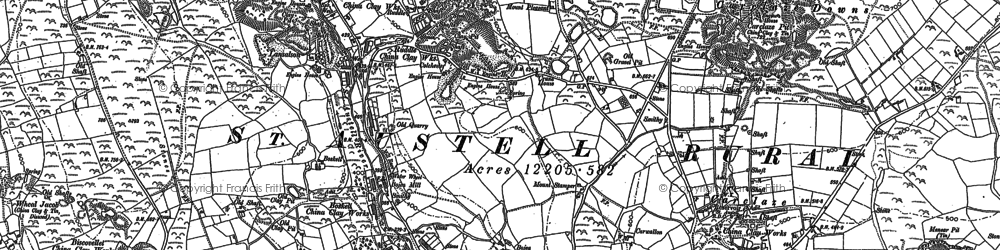 Old map of Scredda in 1881