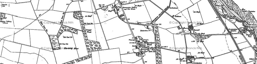 Old map of Aller Dean in 1897