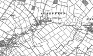 Old Map of Screveton, 1883 - 1899