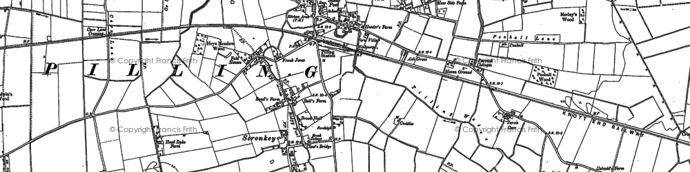 Old map of Wrampool Ho in 1909