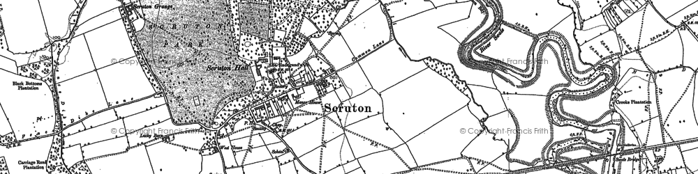 Old map of Scruton in 1891