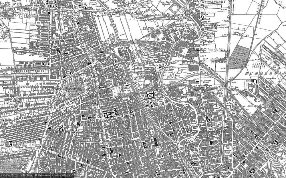 Old Map of Historic Map covering Kingston upon Hull in 1890