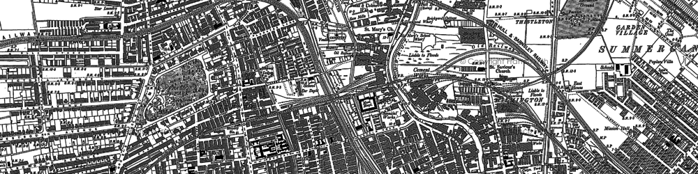 Old map of Kingston upon Hull in 1890