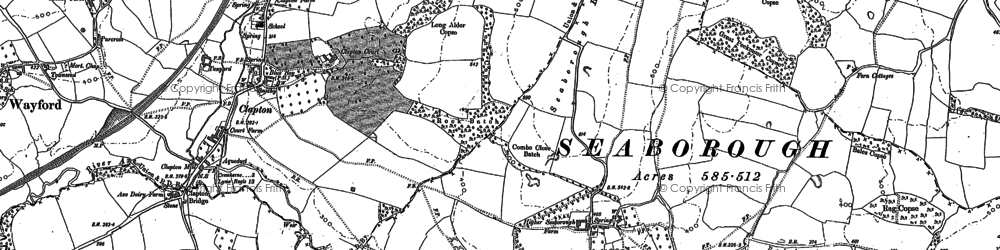 Old map of West Swilletts in 1886