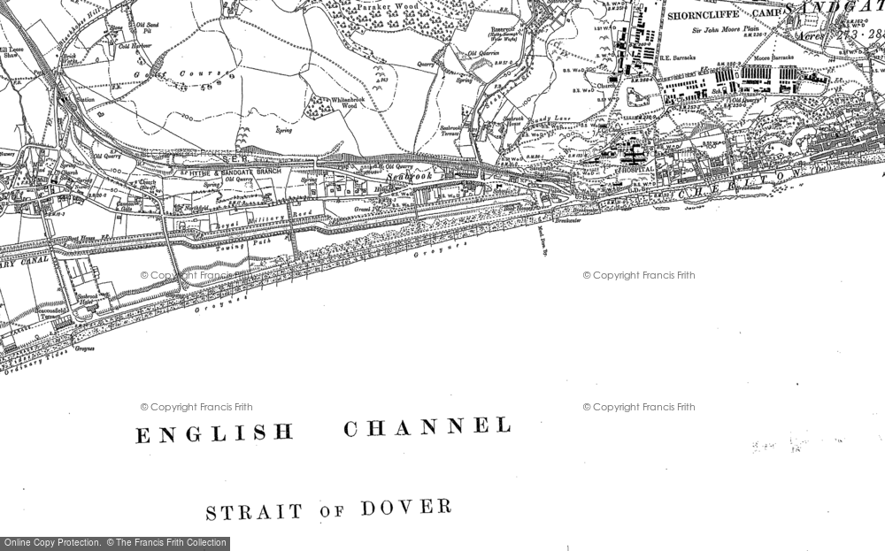 Old Map of Seabrook, 1906 in 1906