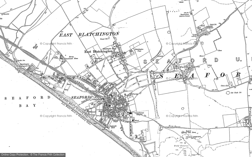 Old Map of Seaford, 1908 in 1908