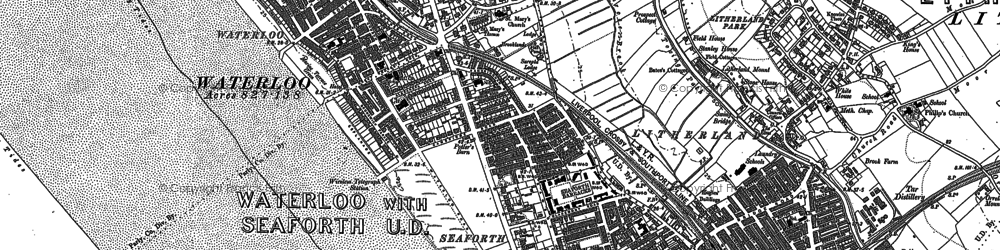 Old map of Seaforth in 1907
