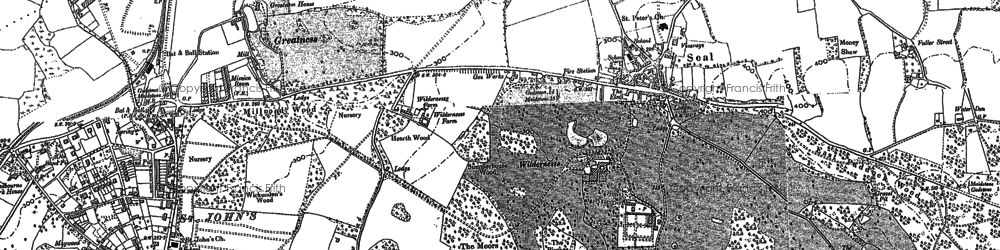 Old map of Seal in 1895