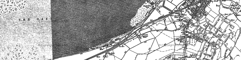 Old map of Whitstable Bay in 1896