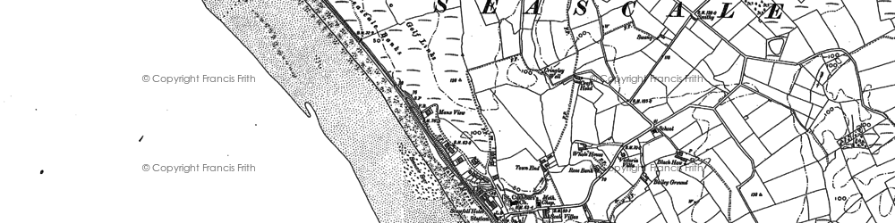 Old map of Whitriggs in 1898