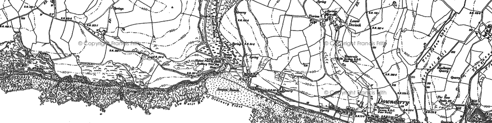 Old map of Seaton in 1881