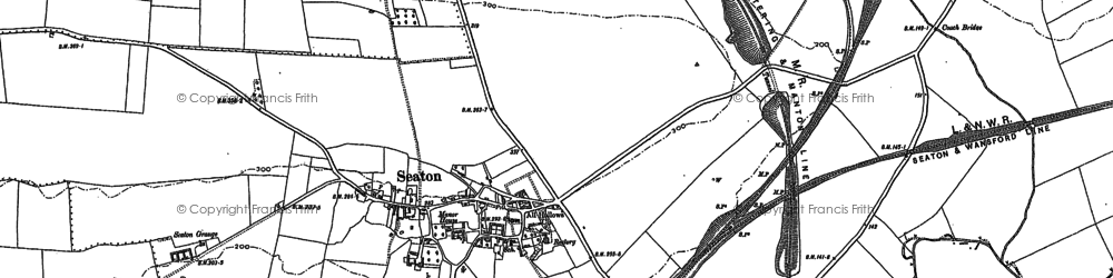 Old map of Seaton in 1902