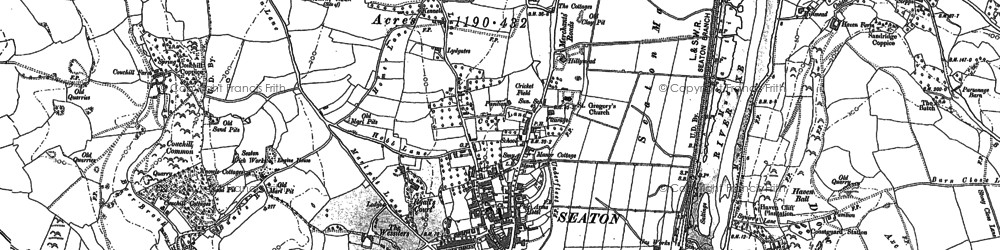 Old map of Seaton in 1903