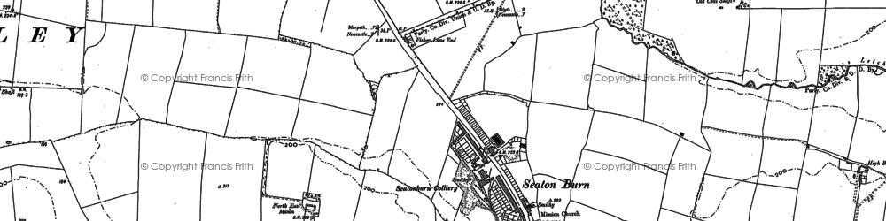 Old map of Seaton Burn in 1895