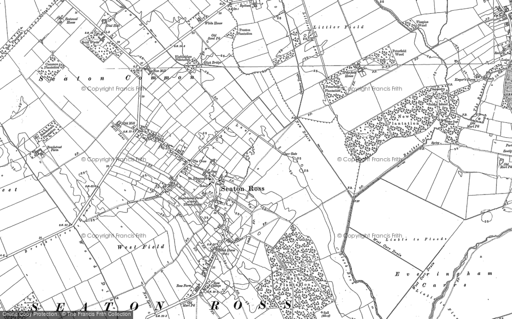 Old Map of Seaton Ross, 1889 in 1889