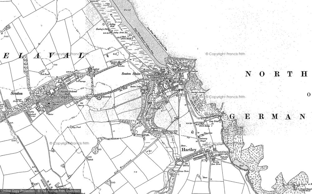 Old Map of Historic Map covering Bait Island in 1895