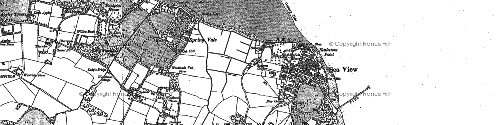 Old map of Seaview in 1907