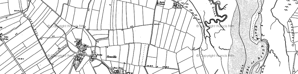 Old map of Whinclose in 1899