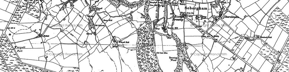 Old map of Lime Kiln Nook in 1898