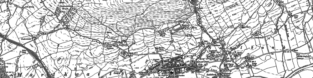 Old map of Sedbergh in 1907