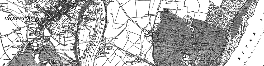 Old map of River Wye in 1900