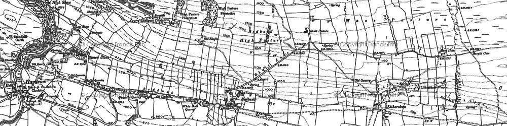 Old map of Sedbusk in 1893