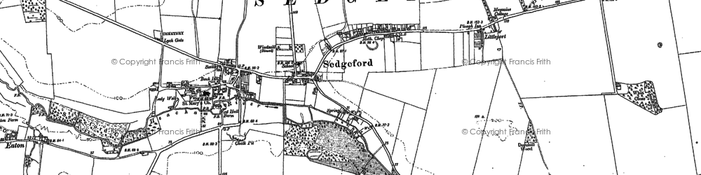 Old map of Sedgeford in 1885