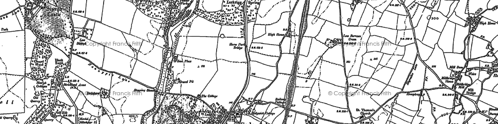 Old map of Sedgwick in 1896