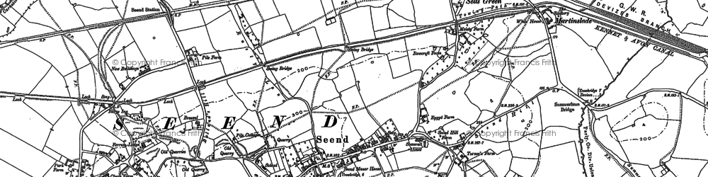 Old map of Seend in 1899