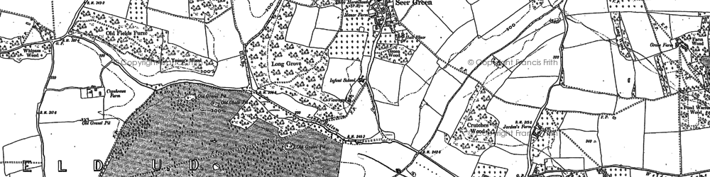 Old map of Wilton Park in 1923