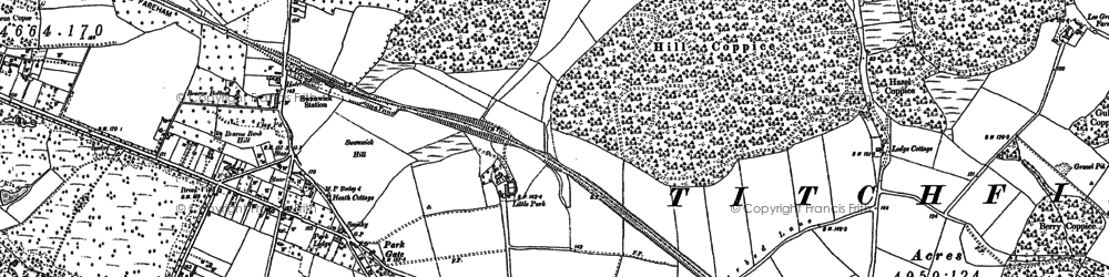 Old map of Titchfield Park in 1895