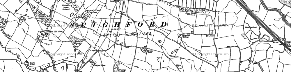 Old map of Williams's Wood in 1880