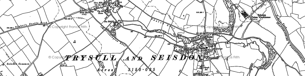 Old map of Seisdon in 1900