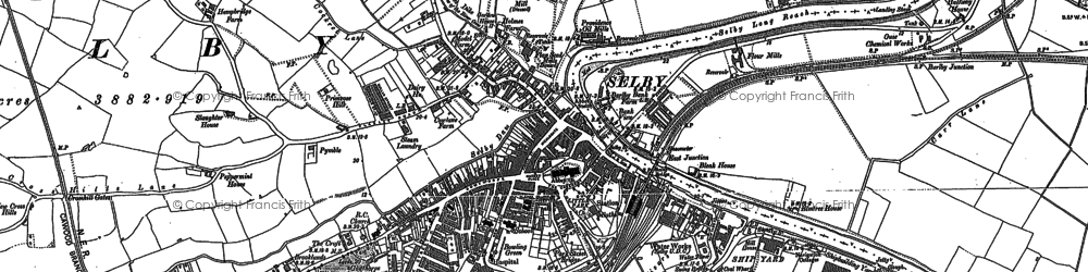 Old map of Selby in 1888