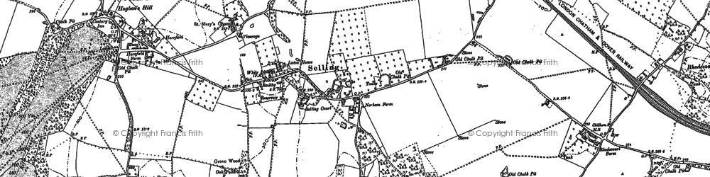 Old map of Selling in 1896