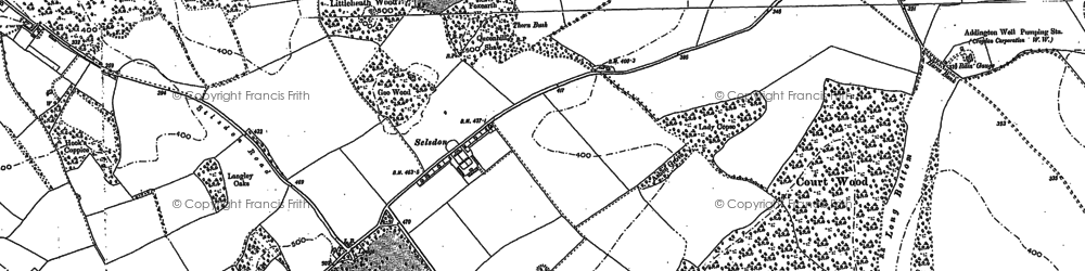 Old map of Addington Hills in 1894