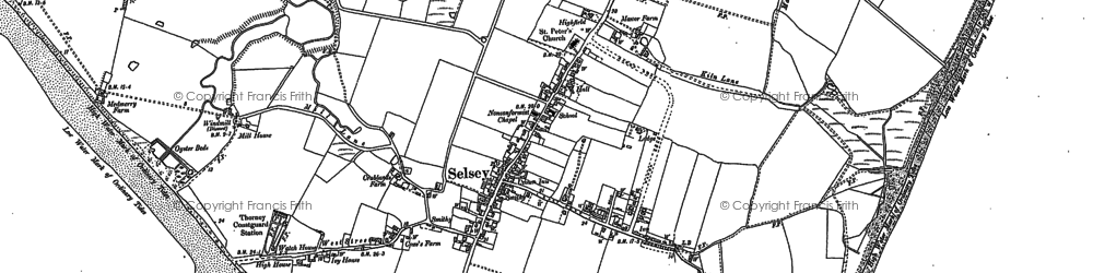 Old map of Selsey in 1909
